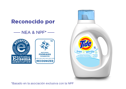 TideFree and GentleLiquid Laundry Detergent is recognized by both the NEA and NPF* *based on exclusive partnership with the NPF.