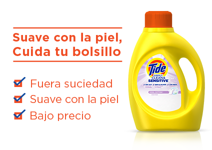 Tide Simply Clean and Sensitive Liquid Laundry Detergent is gentle on skin and easy on your wallet: dirt out, gentle on skin, low price.
