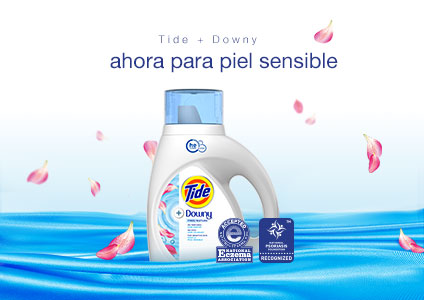 Tide Plus Downy Free Liquid Laundry Detergent is developed specifically for people with sensitive skin.