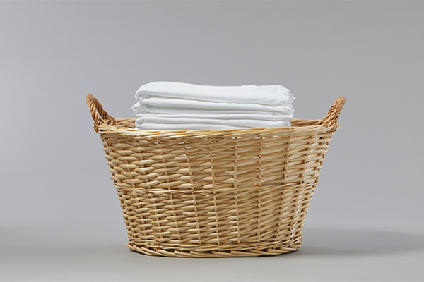Stack of Whites in Basket Tide Life Objects