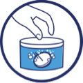 Fixodent Pro Microprotection pour Prothèses Partielles - How to use - Step 1