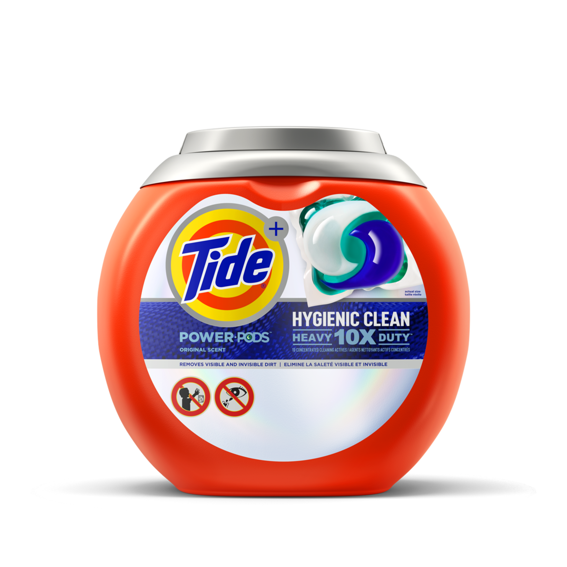 Tide Hygienic Clean Heavy Duty 10x Power PODS Detergent Original Scent