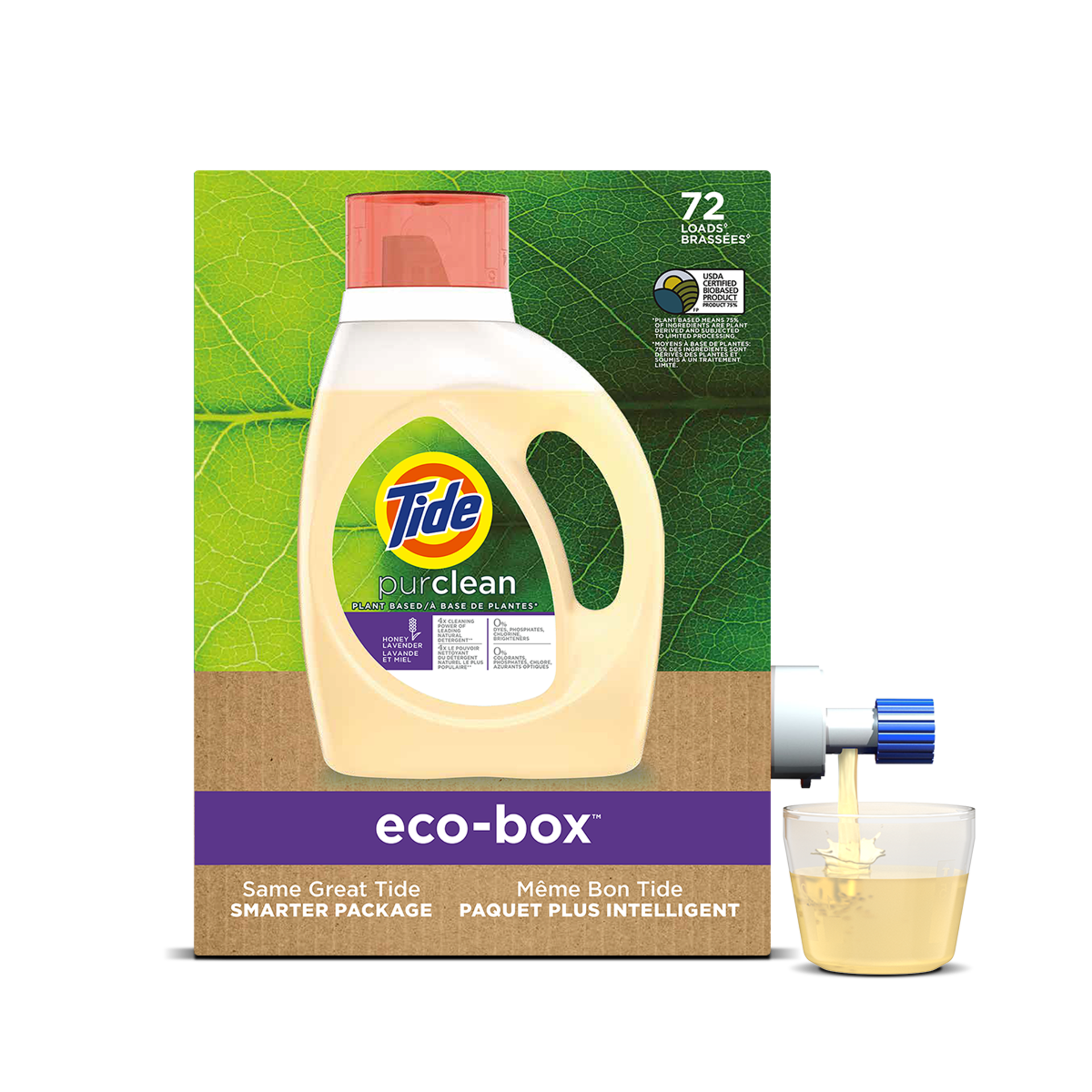 Tide Eco-Box purclean Plant-Based Liquid Laundry Detergent