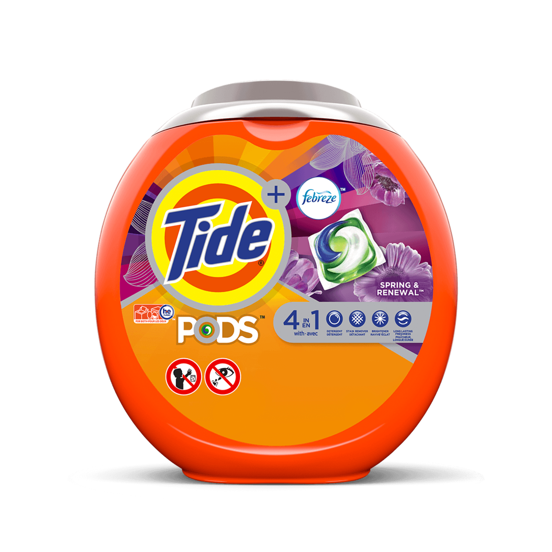 Tide PODS® PlusFebreze™ 4in1 Spring and RenewalLaundry Detergent