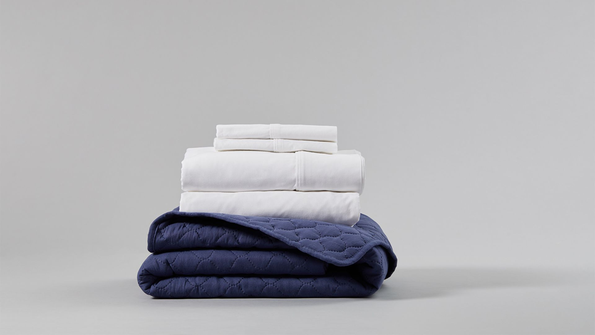 A pile of neatly folded, clean garments