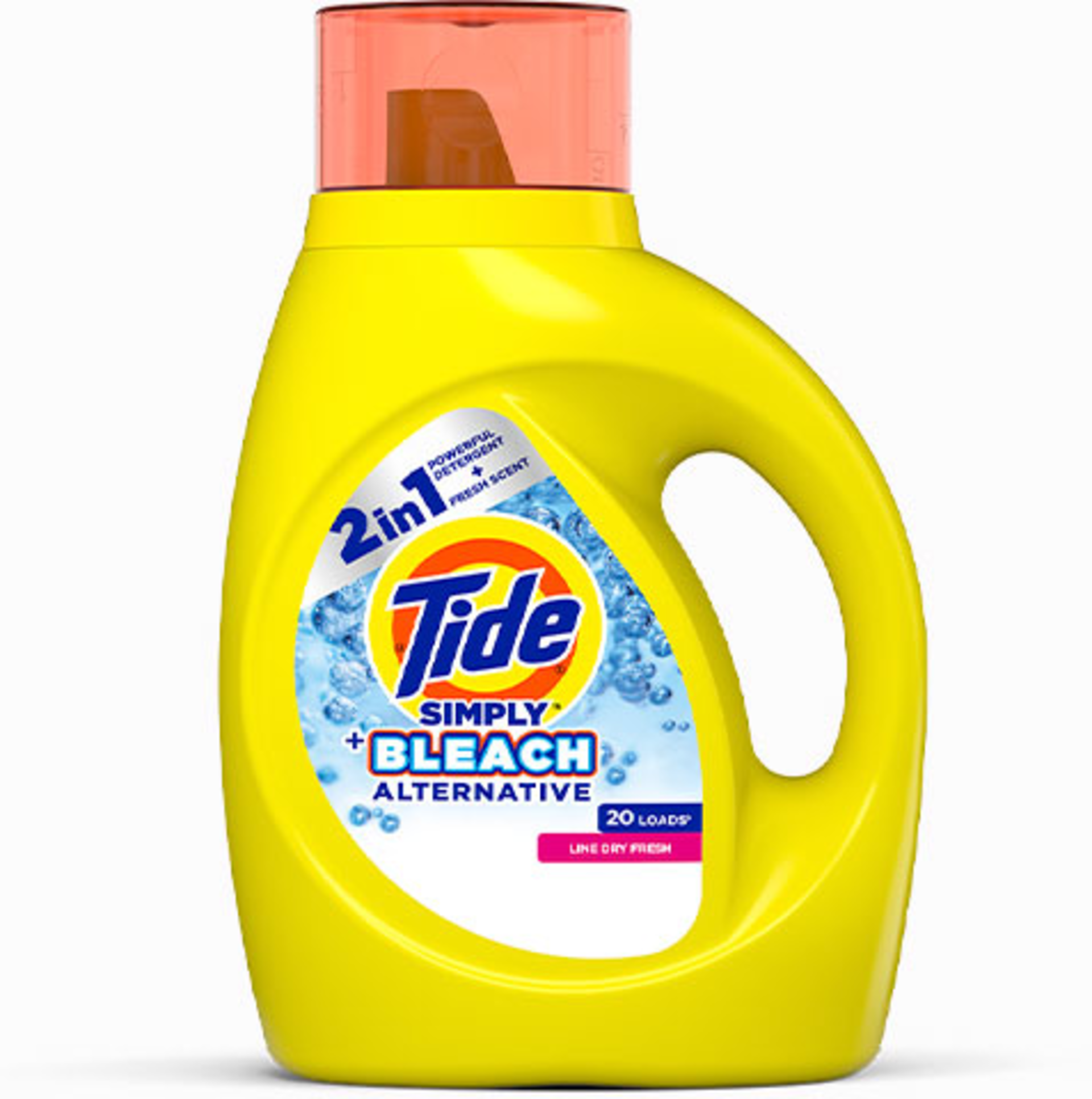 Tide Simply Plus Bleach Alternative Liquid Laundry Detergent cleans, whitens and brightens your clothes.