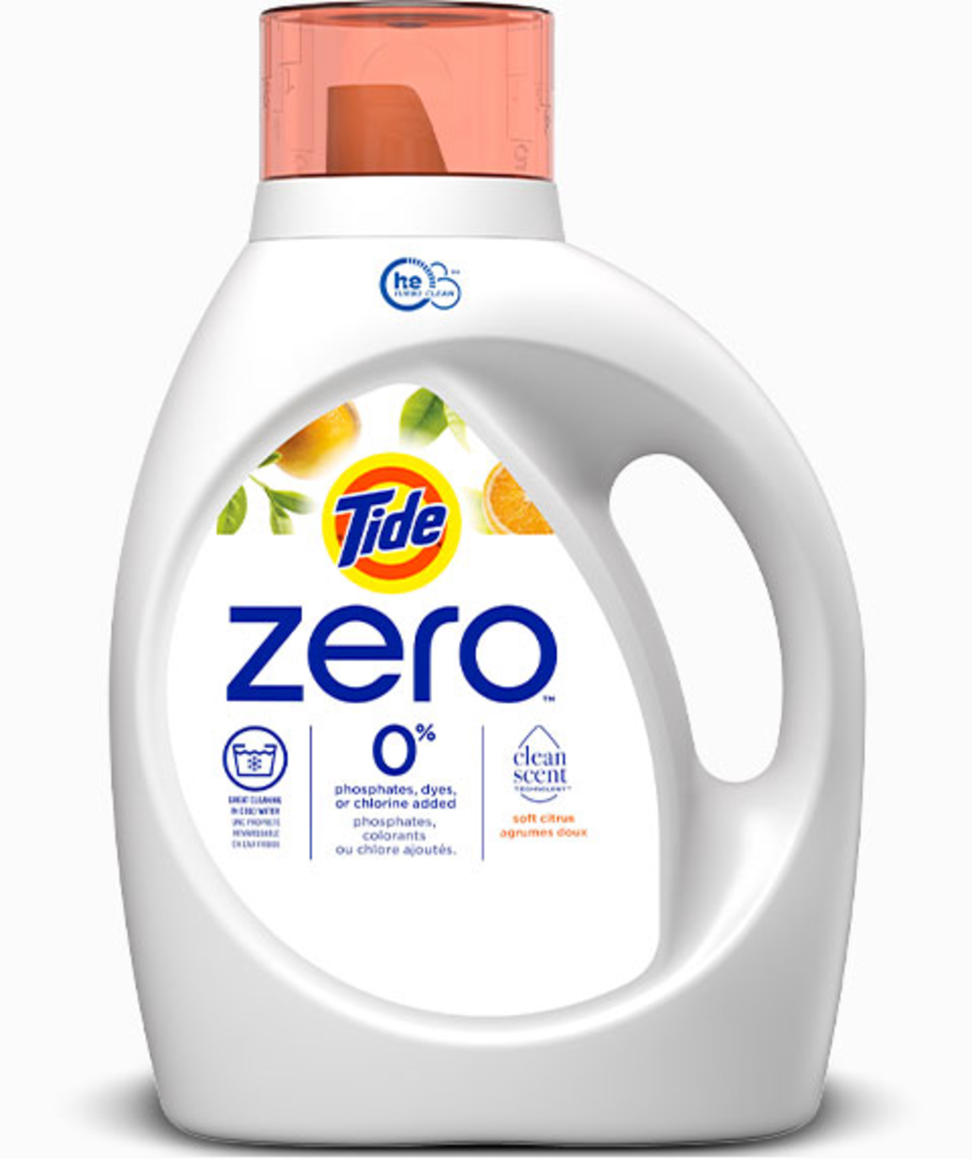 Tide Zero Soft Citrus Liquid Laundry Detergent