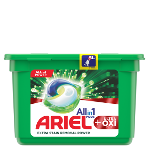 Ariel All-in-1 PODS +Ultra OXI Stain Removal Effect