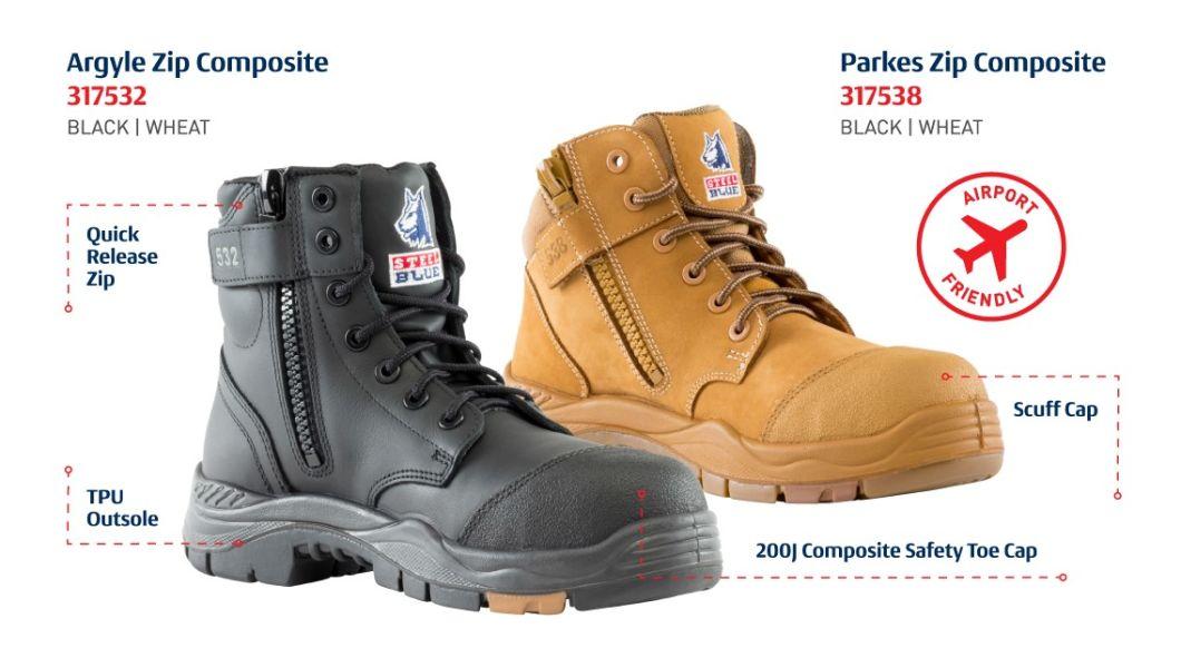 Airport Friendly Toe Cap boots for Men