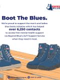 Boot the Blues: How A Pair of Blue Boots Are Supporting Tradie's Mental Health