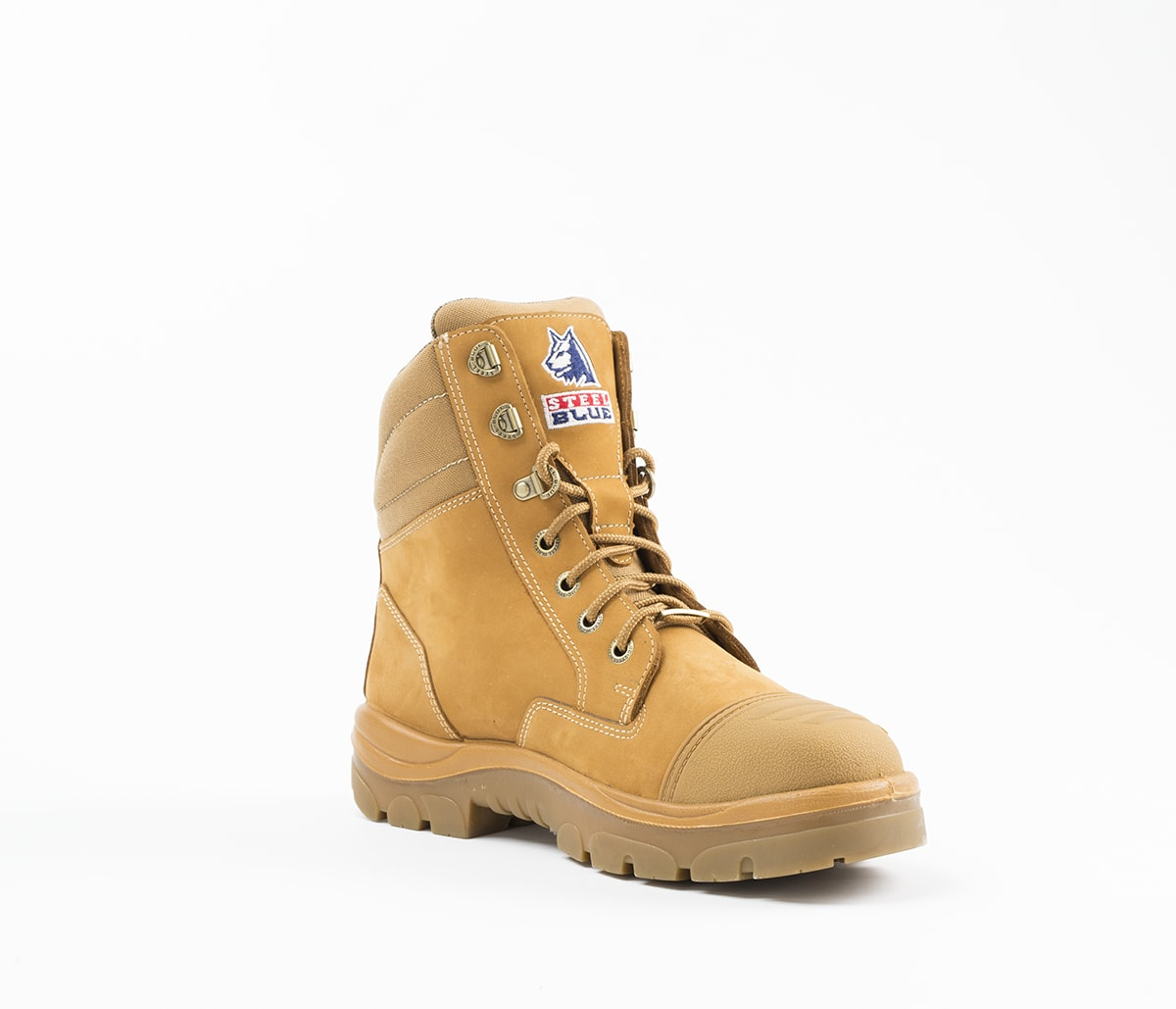 Leather Work Boots With Steel Toe Cap