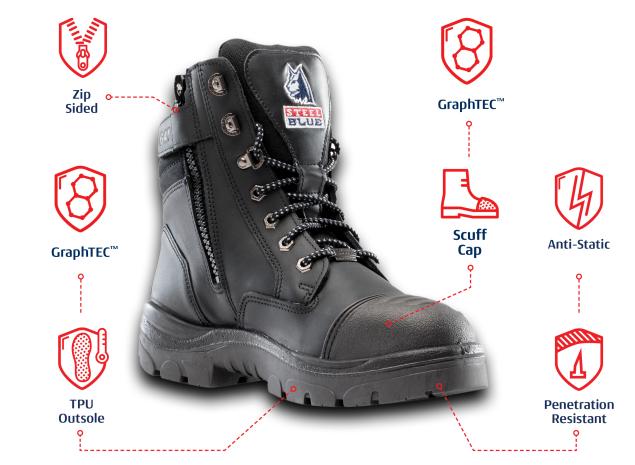 Steel Blue boots technologu