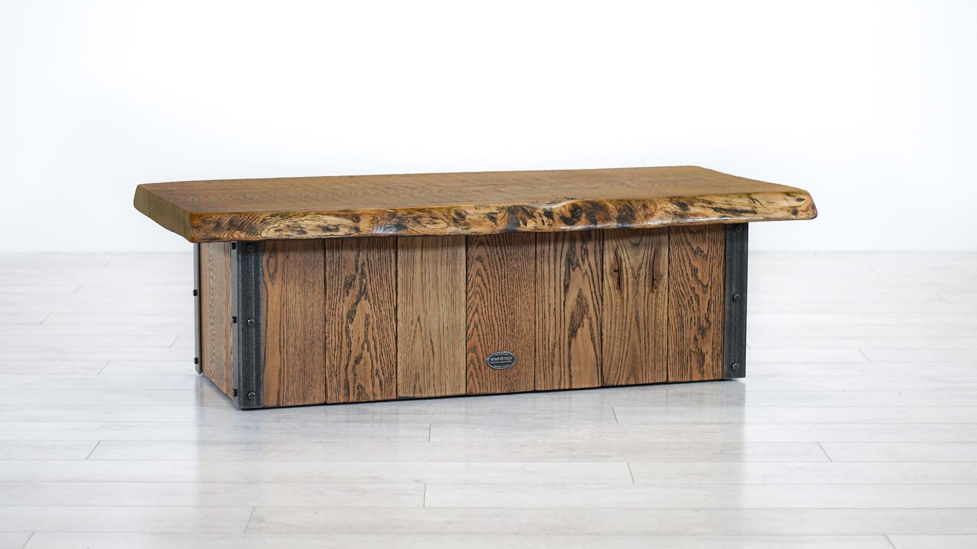 Steel Vintage Grand Oak Coffee Table
