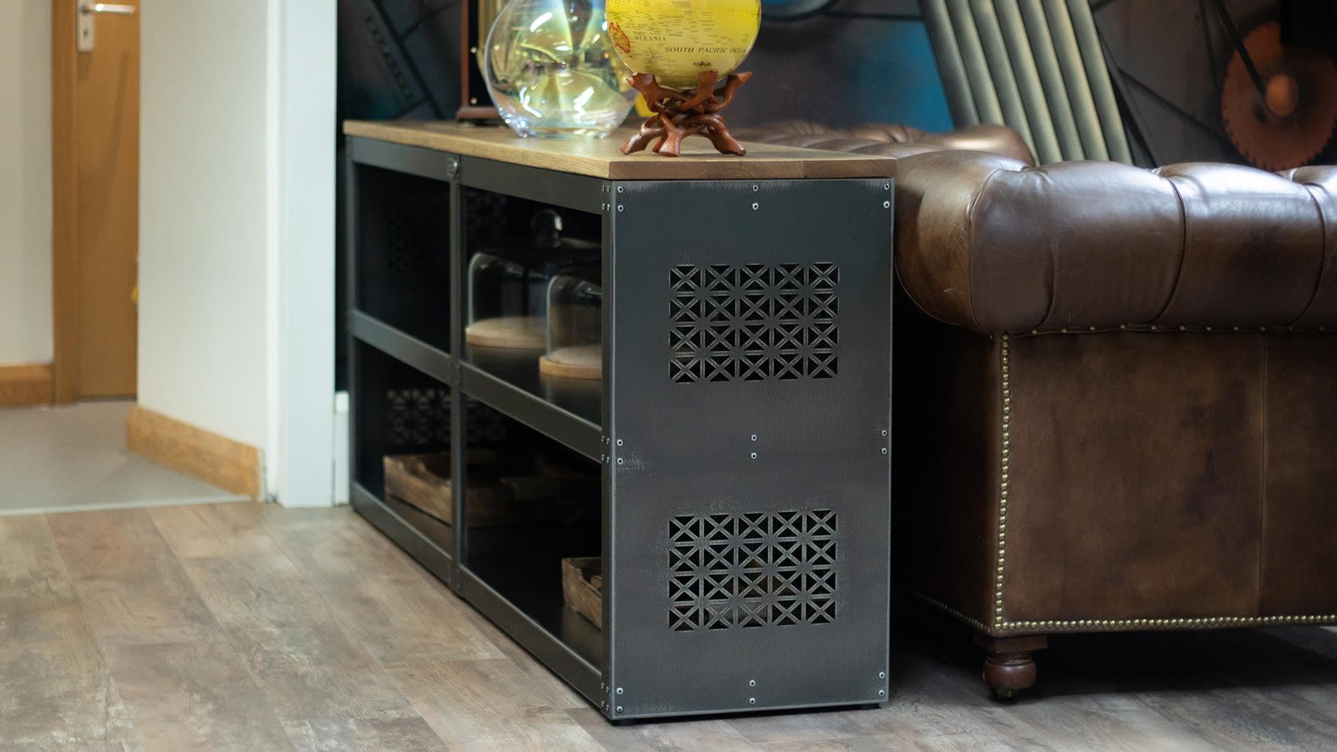 Steel Vintage Lattice Sideboard