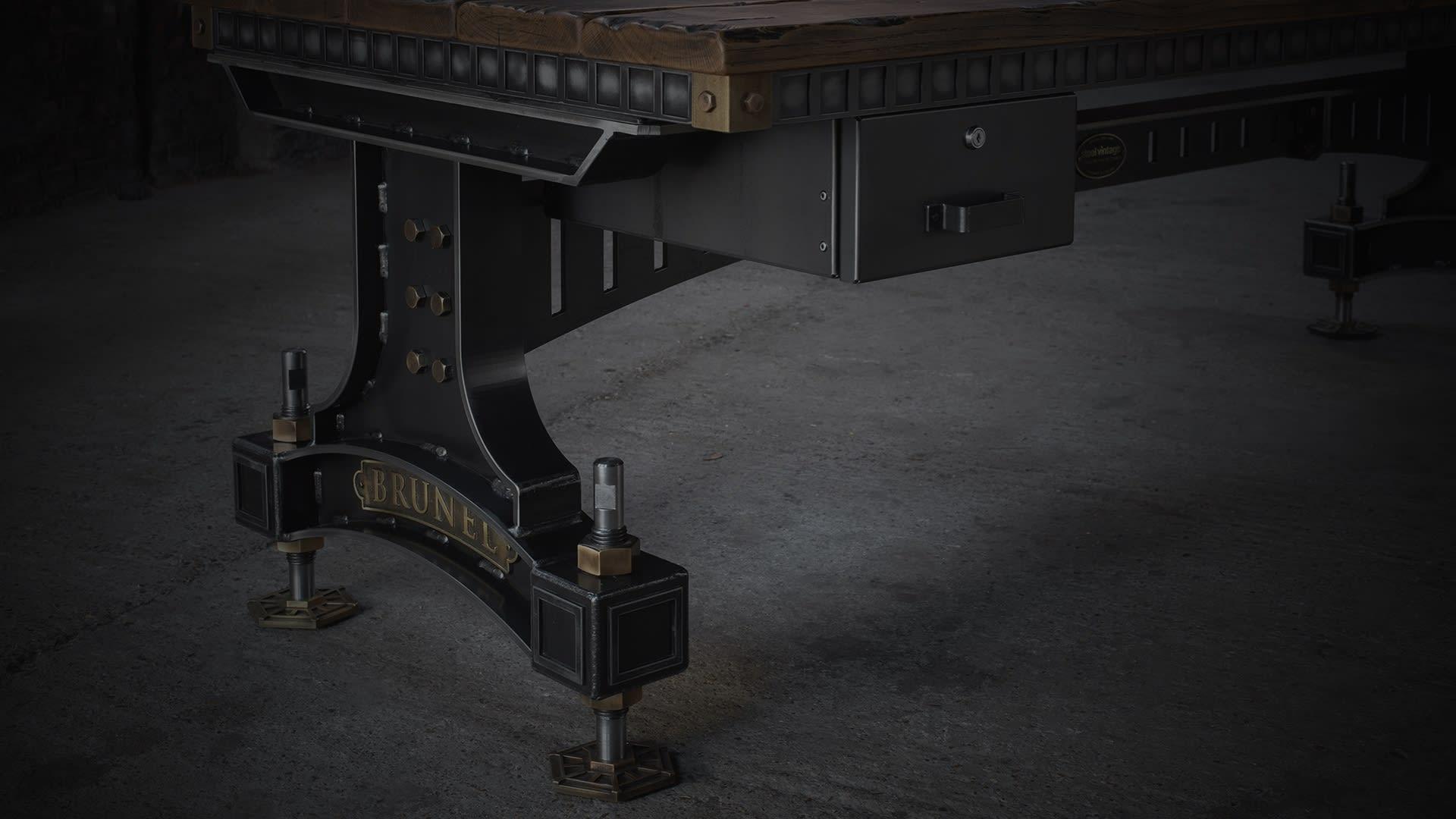 SV brunel desk closeup darkened