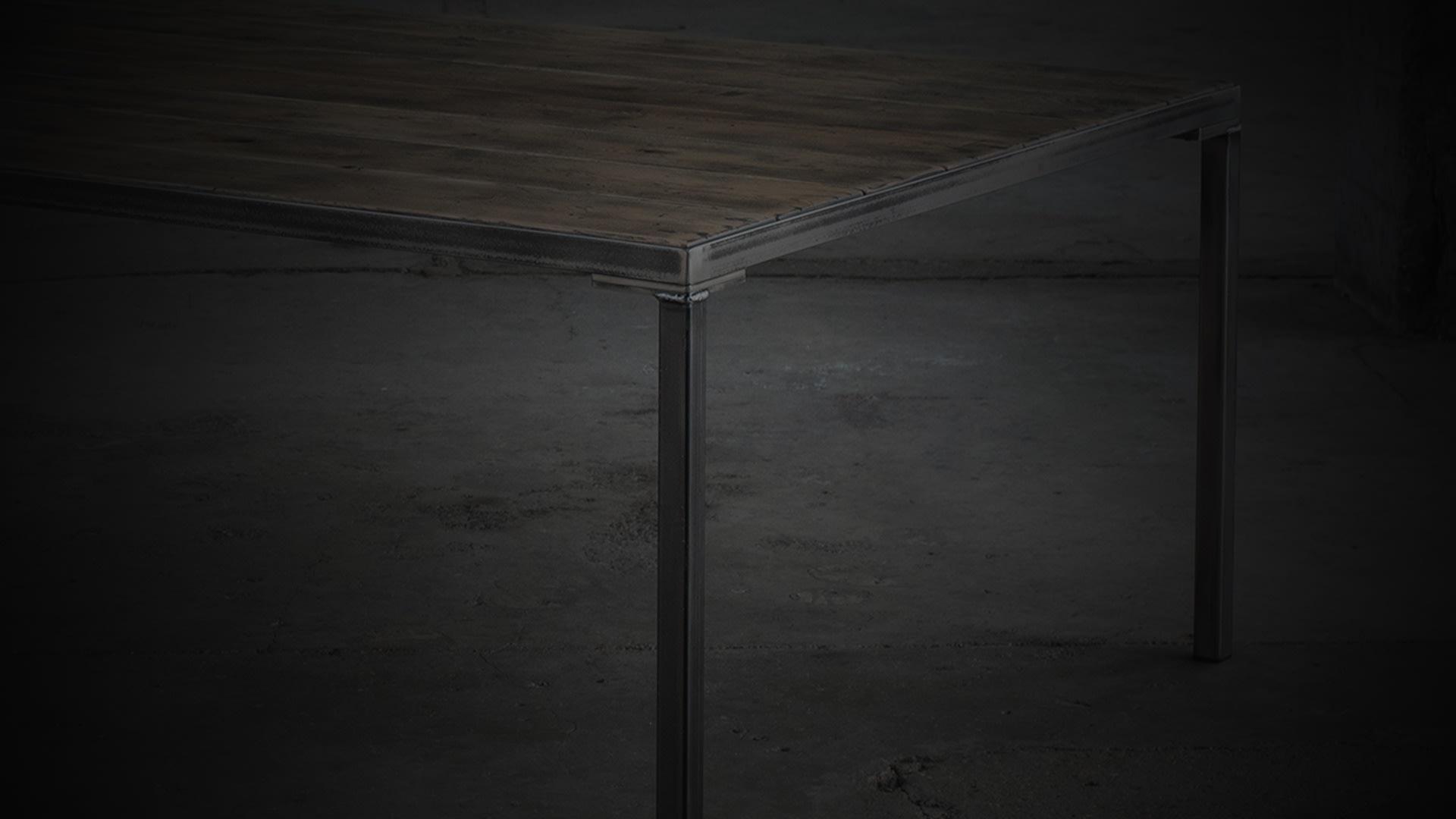 SV workshop table darkened