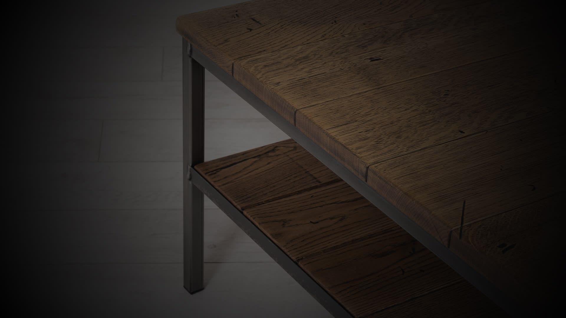 SV warehouse coffee table darkened