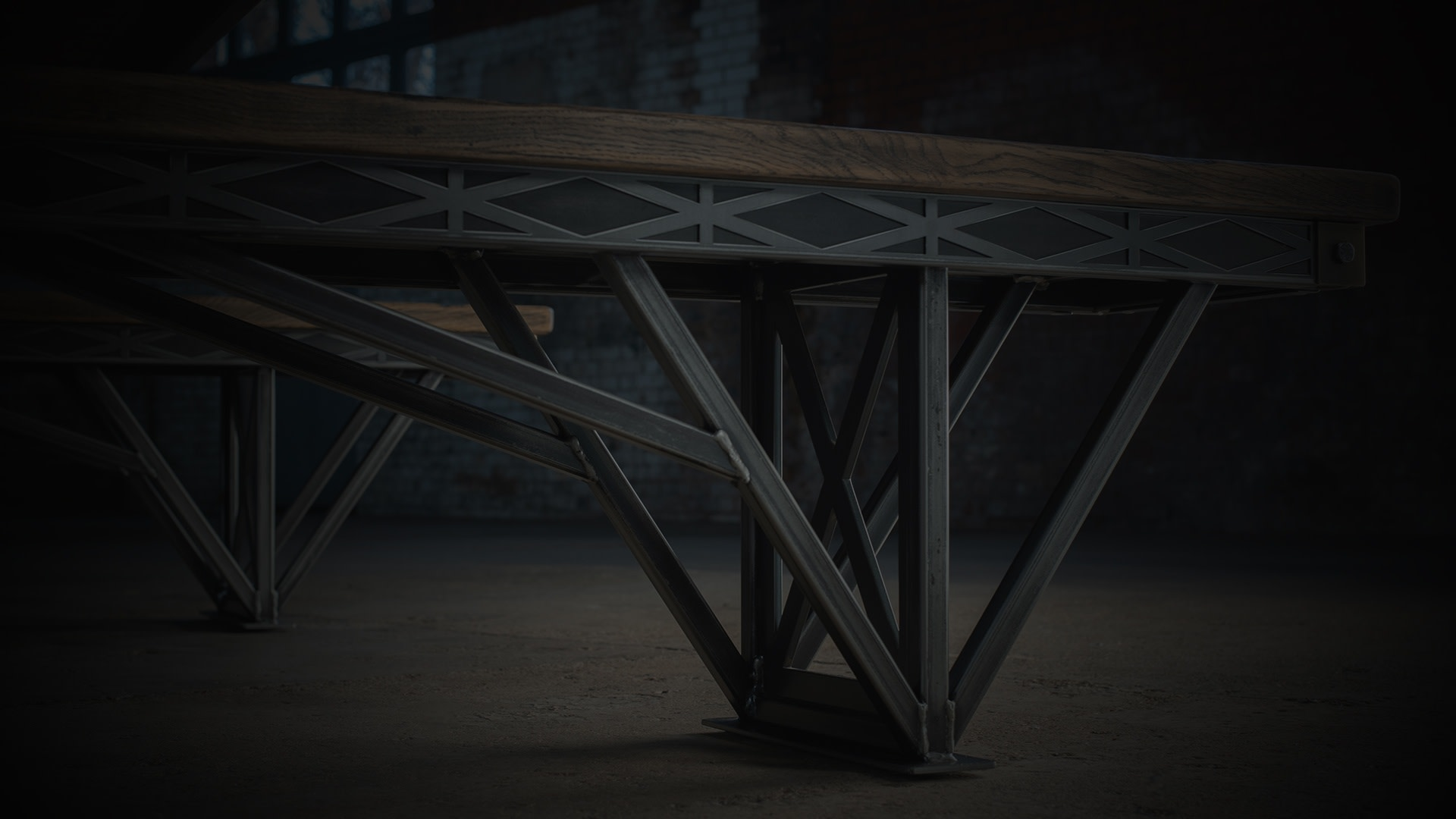 SV Kingsbridge bench closeup darkened