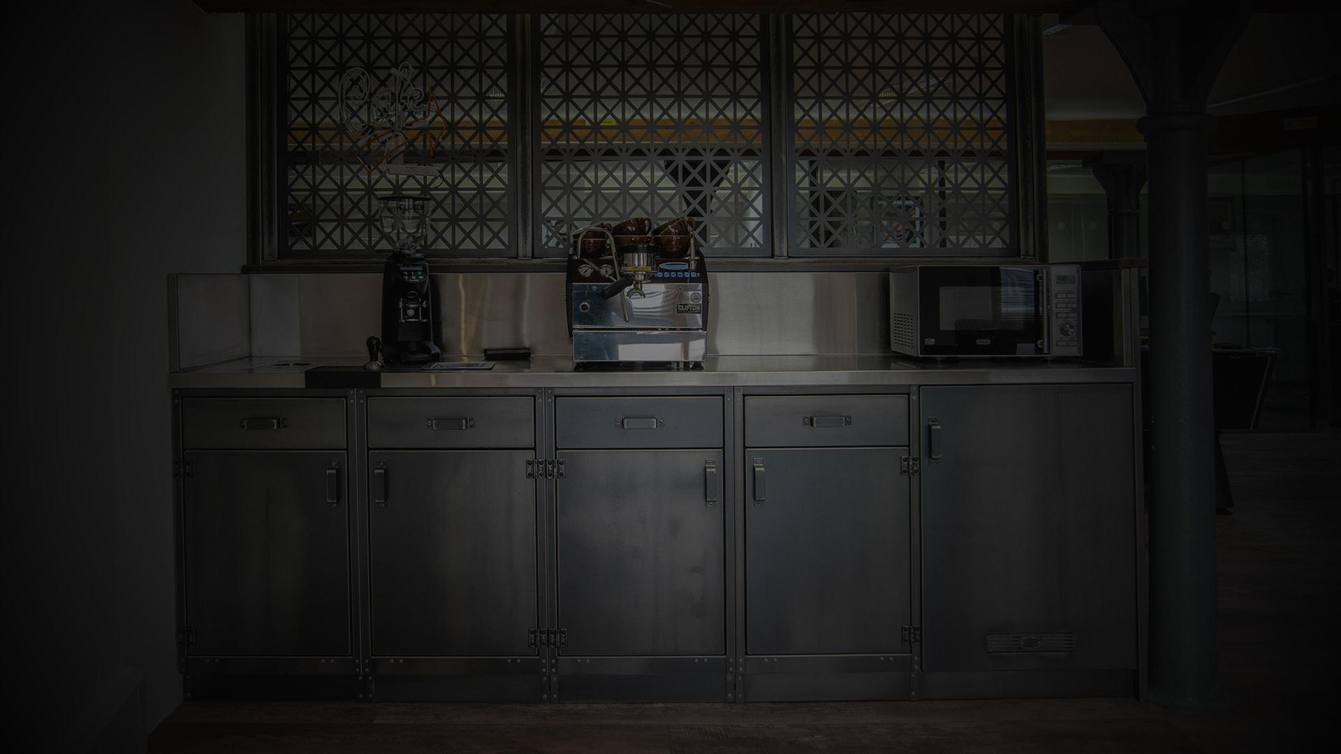 SV workshop kitchen closeup darkened