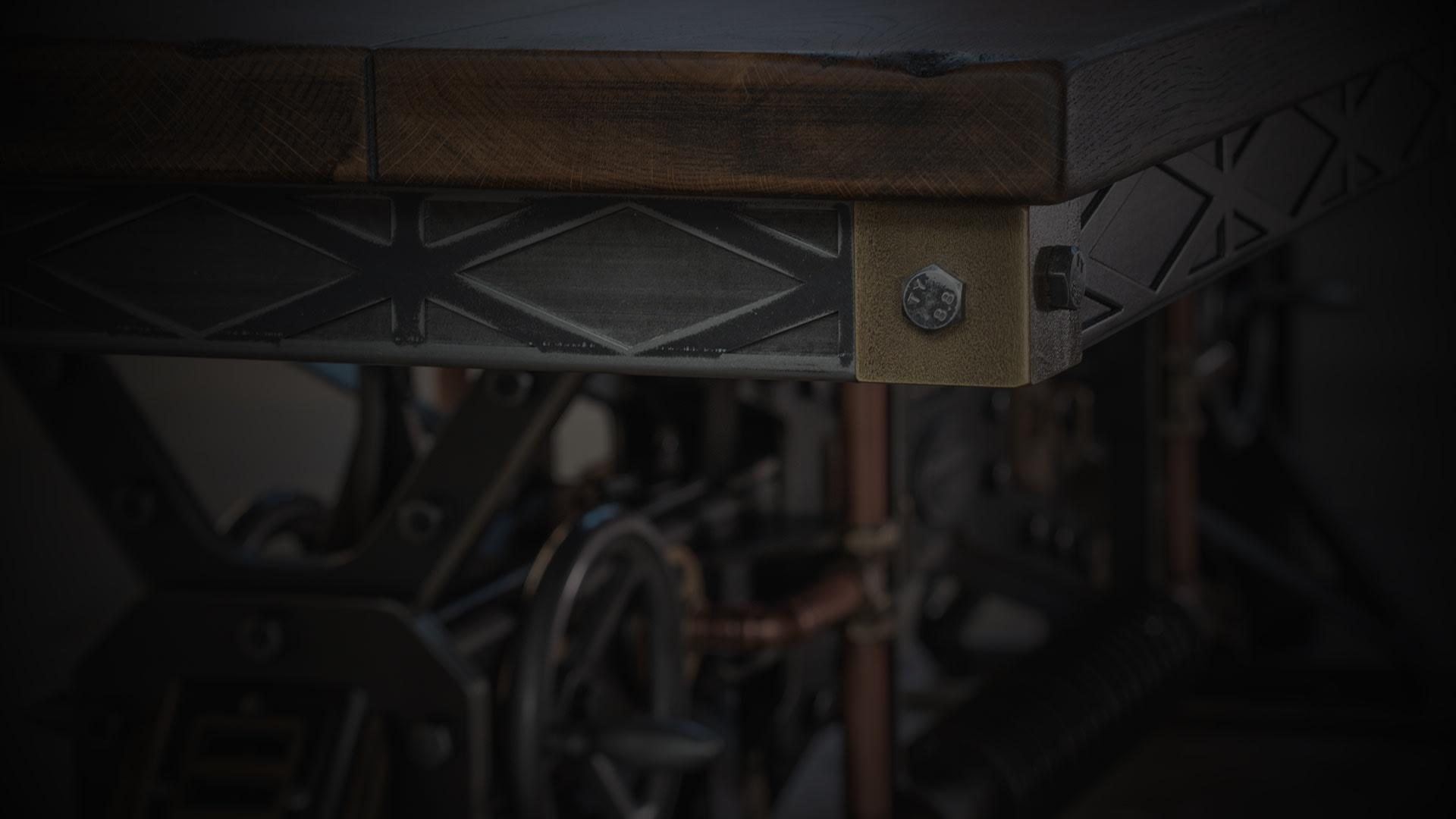 SV kingsbridge table closeup darkened