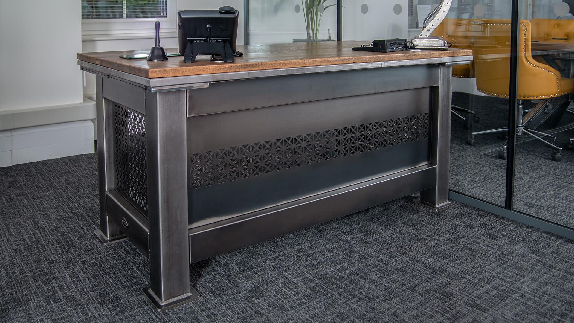 Steel Vintage - Grand Artisan Desk - Industrial Furniture