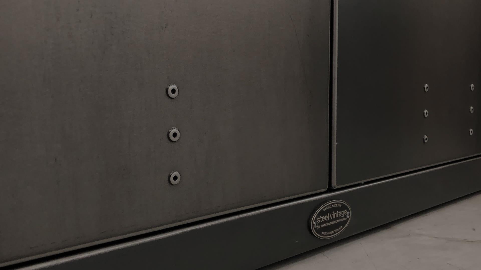 Steel Vintage - Workshop Double Cupboard - Industrial Furniture