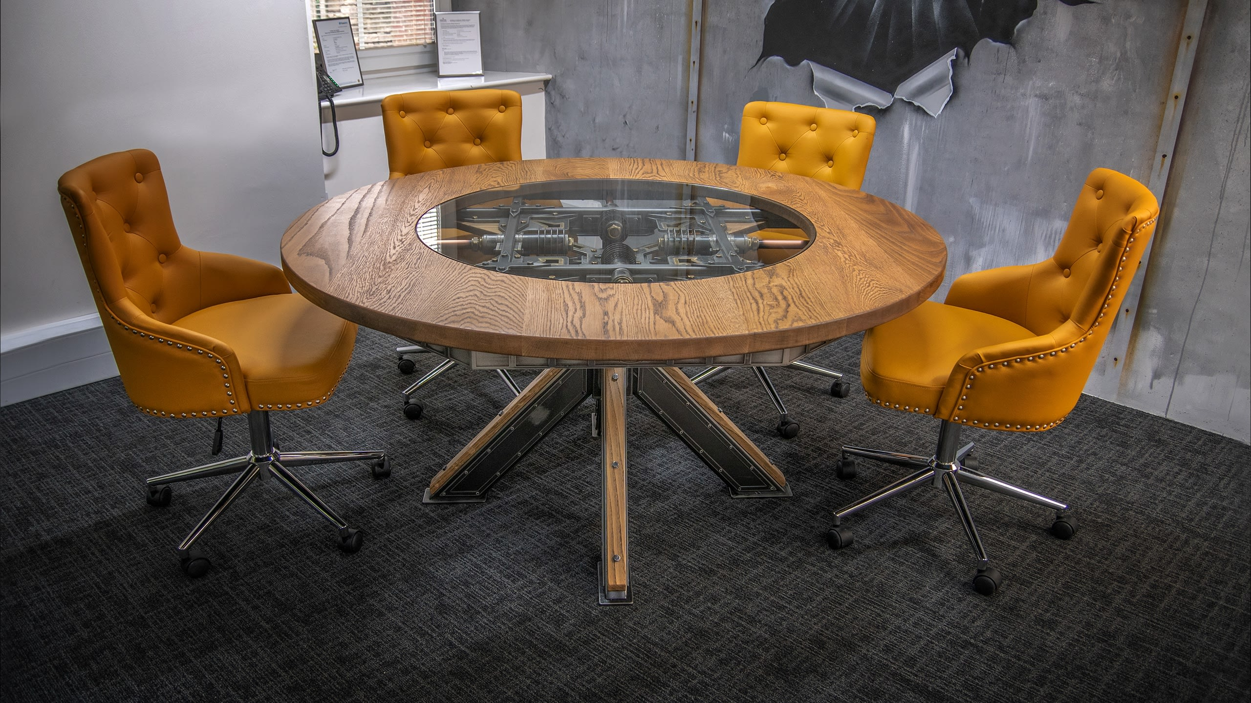 Steel Vintage - Steampunk Round Table - Industrial Furniture