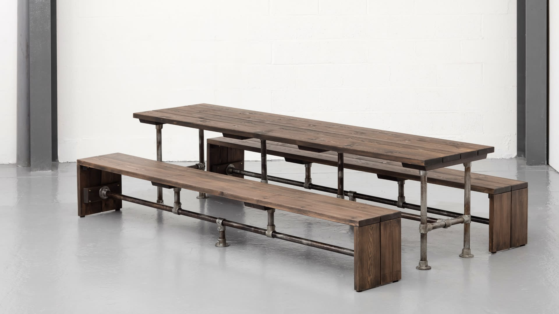 Steel Vintage construction table & bench