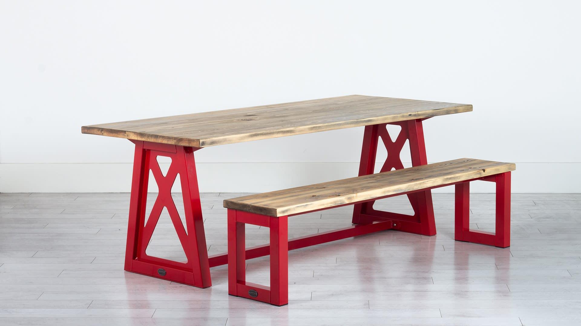 Steel Vintage Firehouse Table