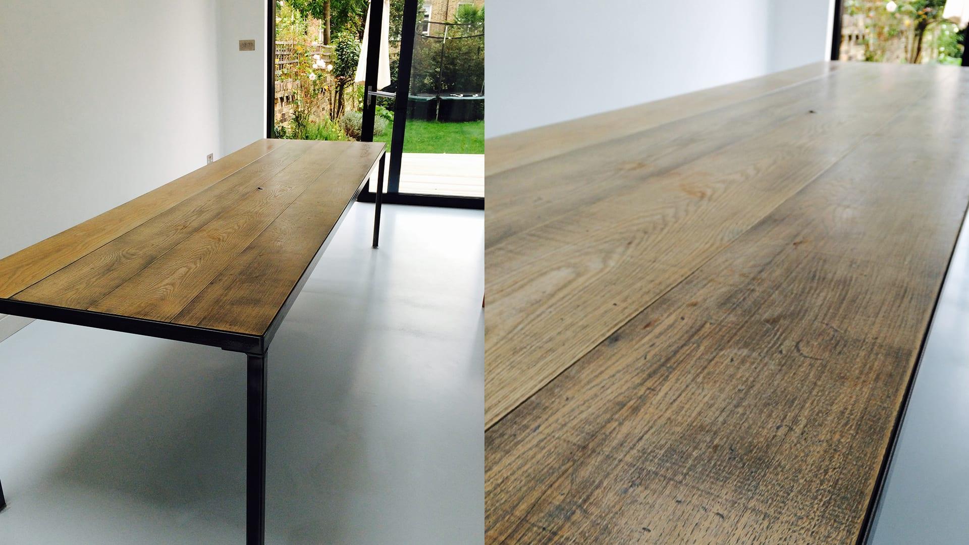 Steel Vintage Testimonial - Mrs Rooney Workshop Table