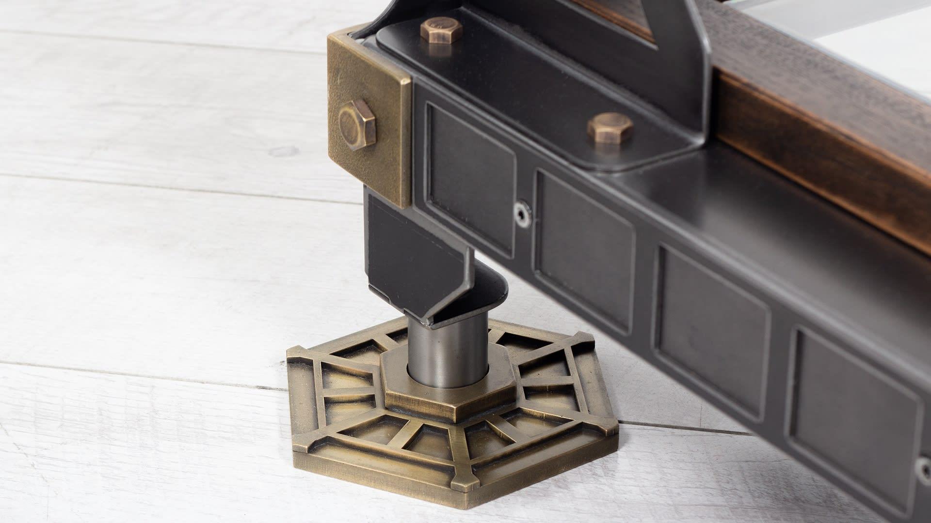 Steel Vintage Brunel Display Stand leg closeup