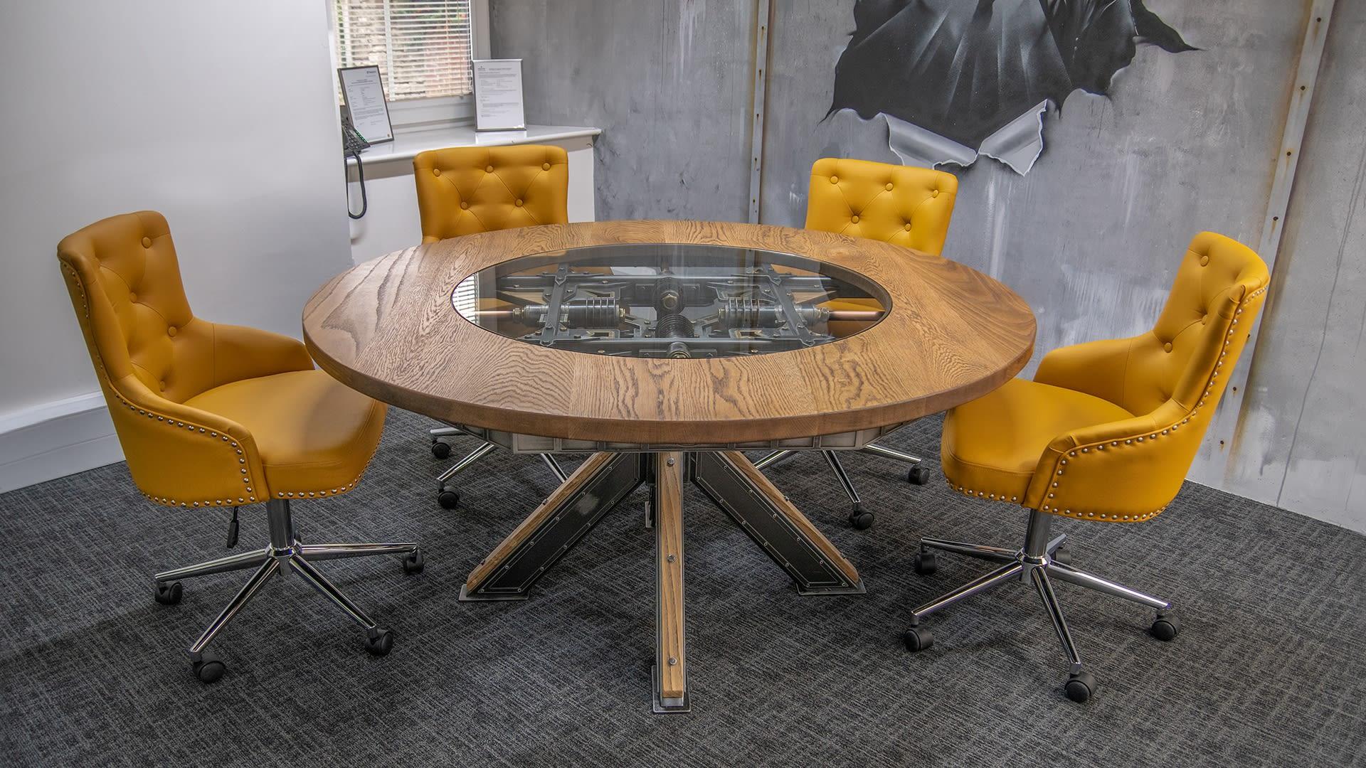 Steel Vintage - Steampunk Round Table - Industrial Furniture