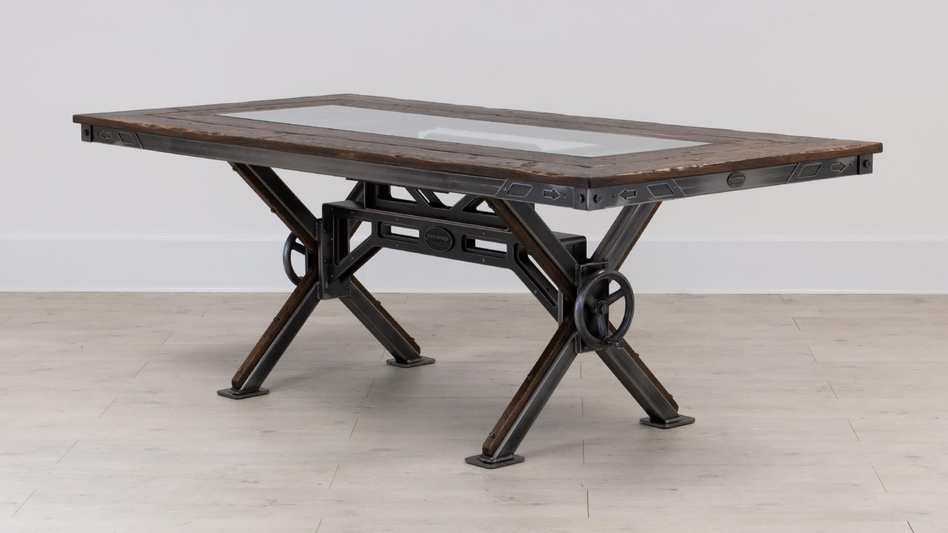 STEEL VINTAGE STEAMPUNK TABLE