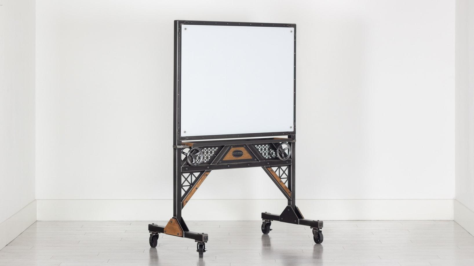 Steel Vintage steampunk glass board trolley