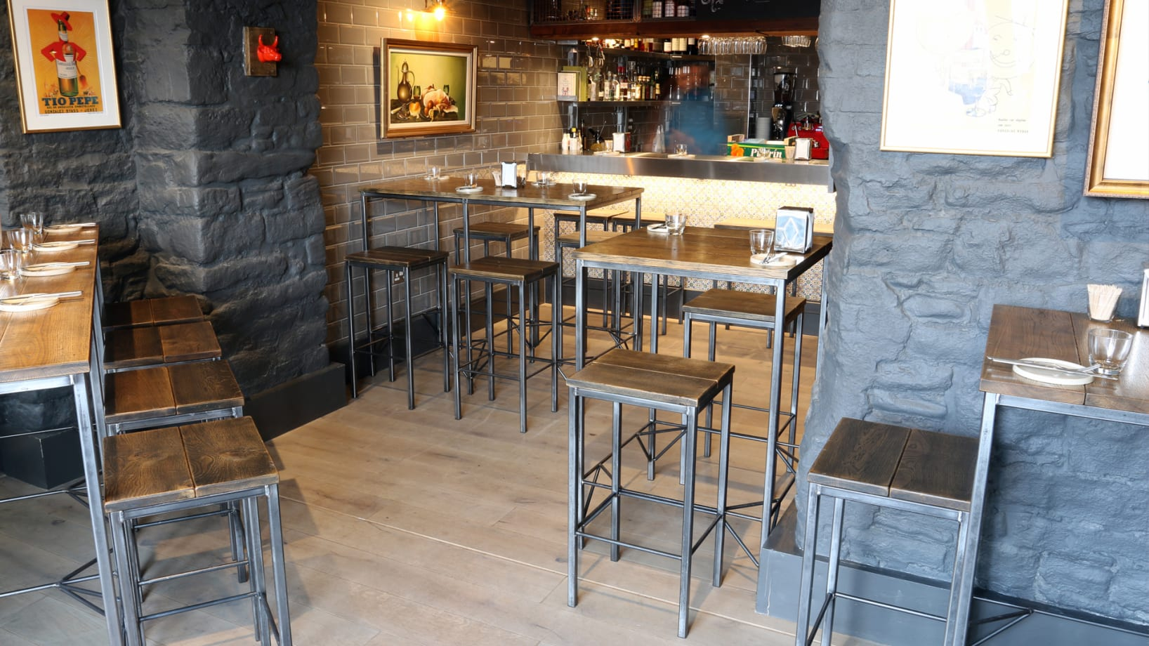 Steel Vintage | Case Study - Paco Tapas | Industrial Bar Tables