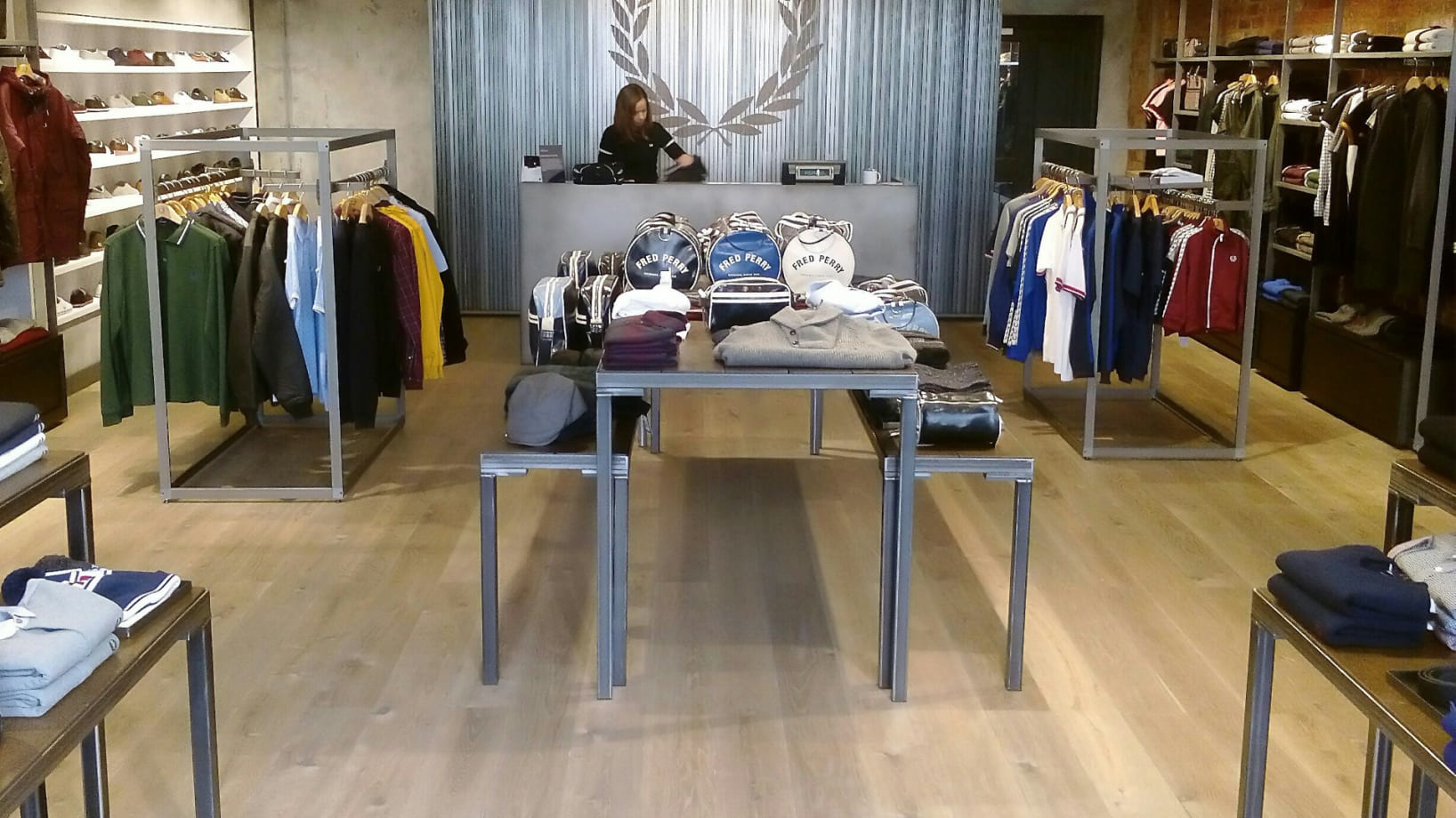 Steel Vintage | Case Study - Fred Perry Store Bristol - Industrial Display Tables