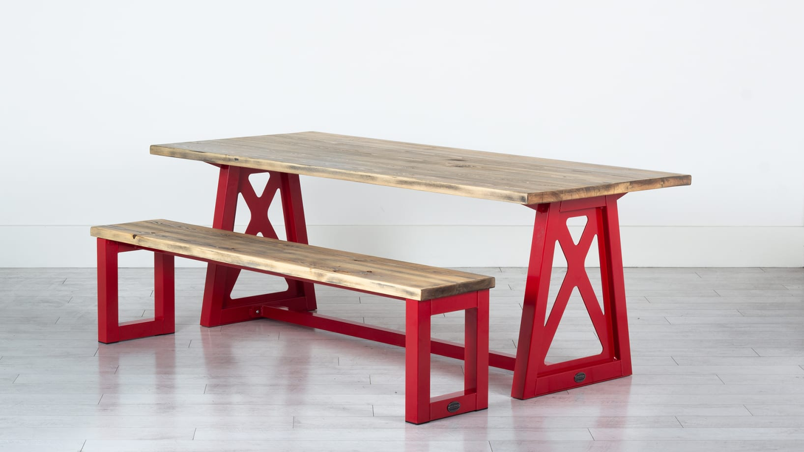 The Firehouse Table Coloured Metal Dining Table Steel Vintage Uk