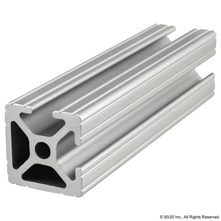 "1.00"" X 1.00"" T-Slotted Profile - Two Adjacent Open T-Slots #1002"