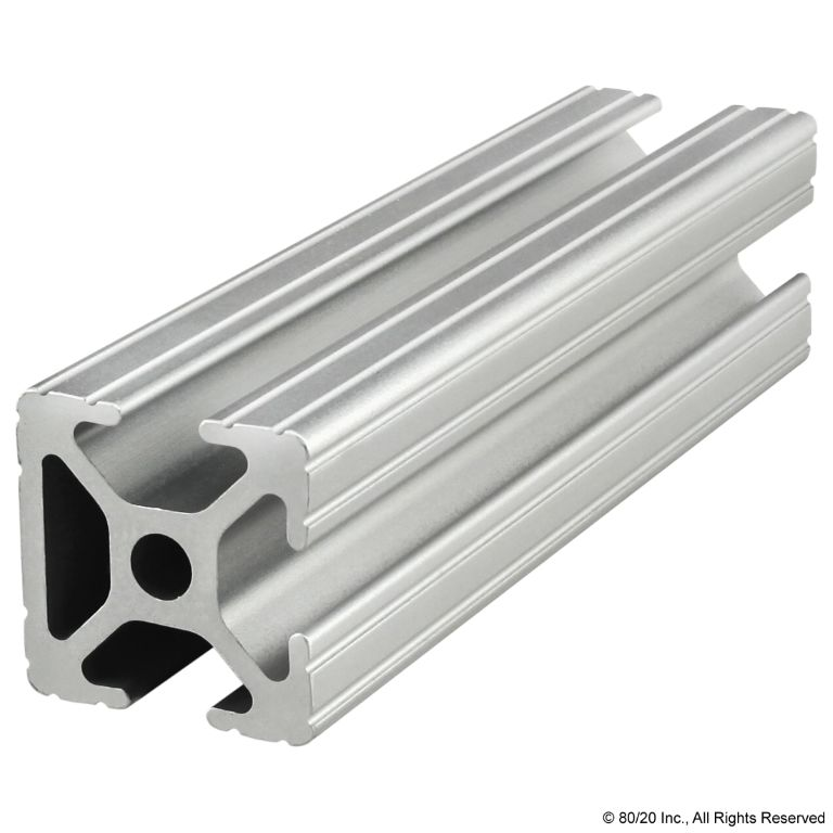 "1.00"" X 1.00"" T-Slotted Profile - Three Adjacent Open T-Slots #1003"