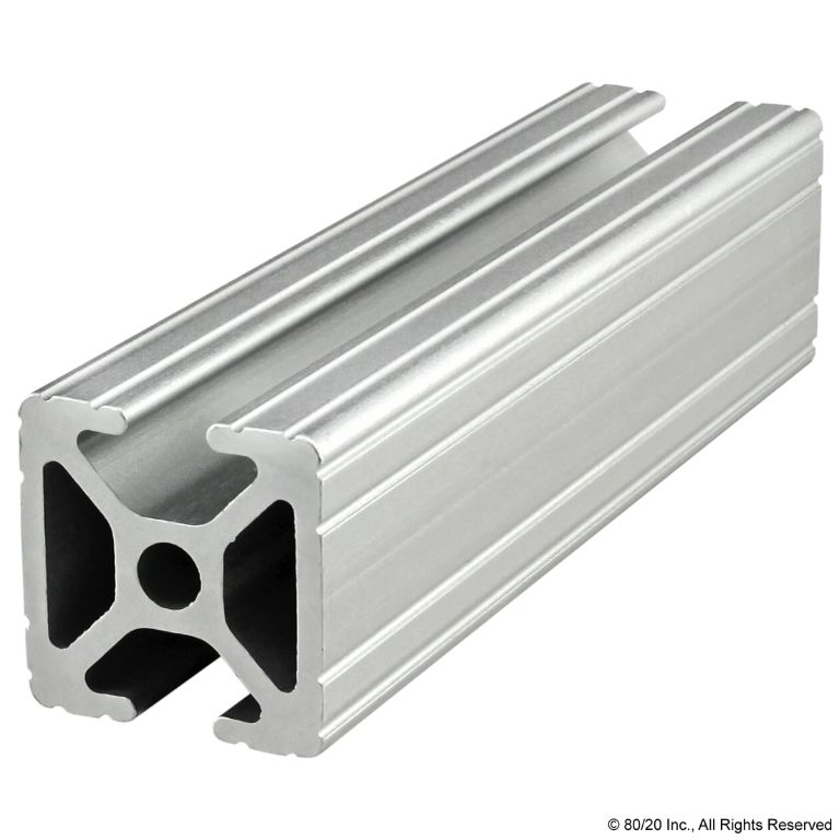 "1.00"" X 1.00"" T-Slotted Profile - Two Opposite Open T-Slots #1004"