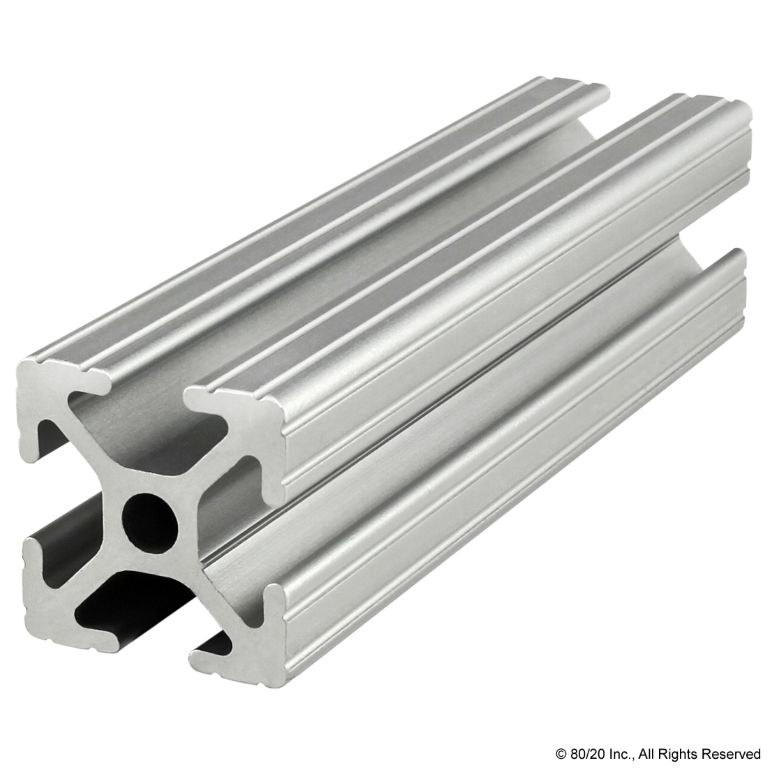 "1.00"" X 1.00"" T-Slotted Profile - Four Open T-Slots #1010"