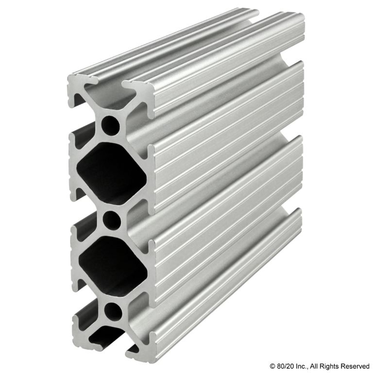 "1.00"" X 3.00"" T-Slotted Profile - Eight Open T-Slots #1030"