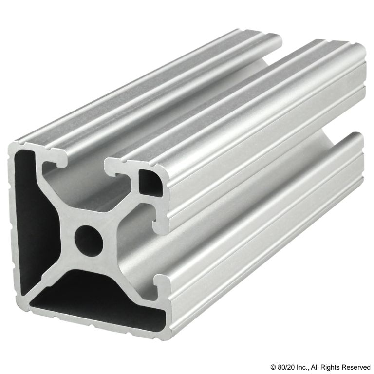 "1.50"" X 1.50"" T-Slotted Profile - Two Adjacent Open T-Slots #1502"