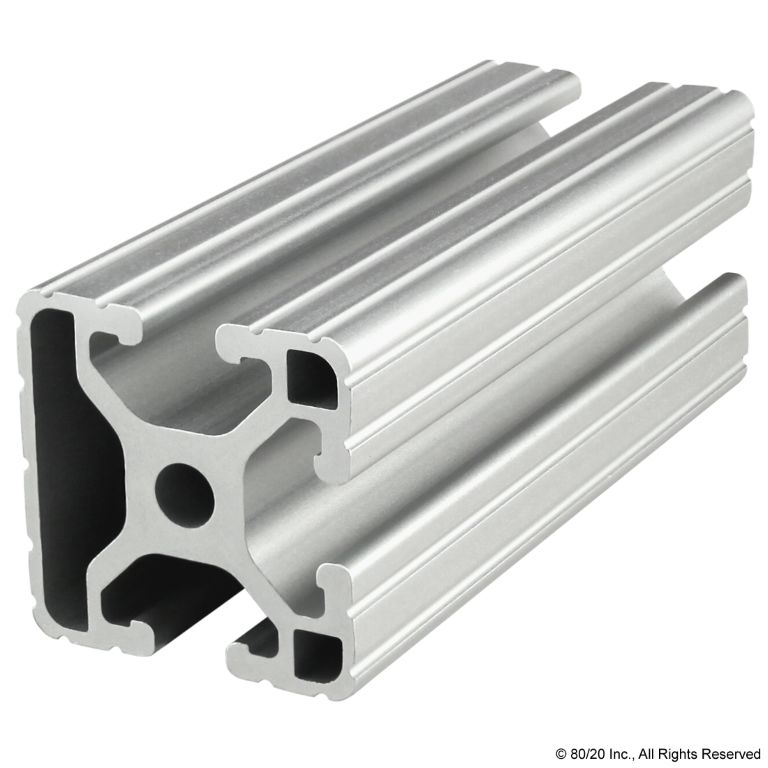 "1.50"" X 1.50"" T-Slotted Profile - Three Adjacent Open T-Slots #1503"
