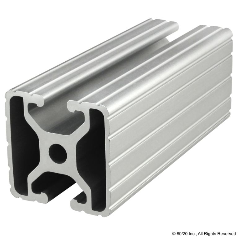 "1.50"" X 1.50"" T-Slotted Profile - Two Opposite Open T-Slots #1504"