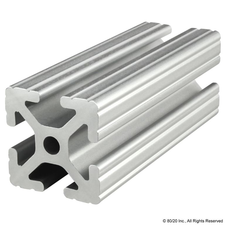 "1.50"" X 1.50"" T-Slotted Profile - Four Open T-Slots #1515"