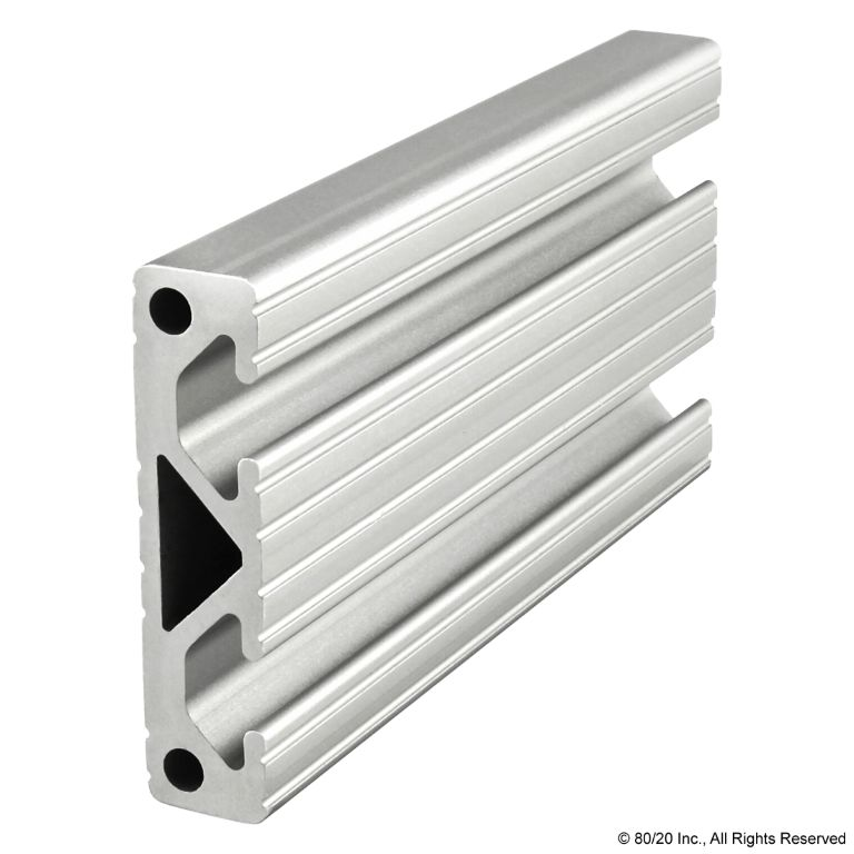 "2.00"" X .50"" T-Slotted Profile - Two Adjacent Open T-Slots #2012"