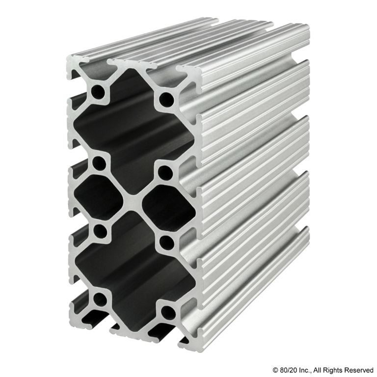 "2.00"" X 4.00"" T-Slotted Profile - Twelve Open T-Slots #2040"