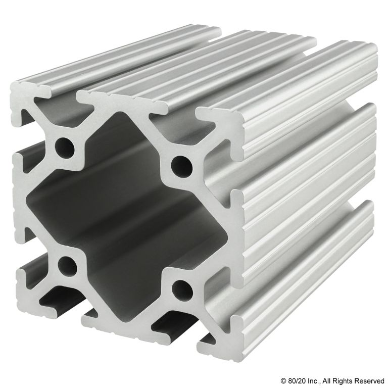 "3.00"" X 3.00"" T-Slotted Profile - Eight Open T-Slots #3030"