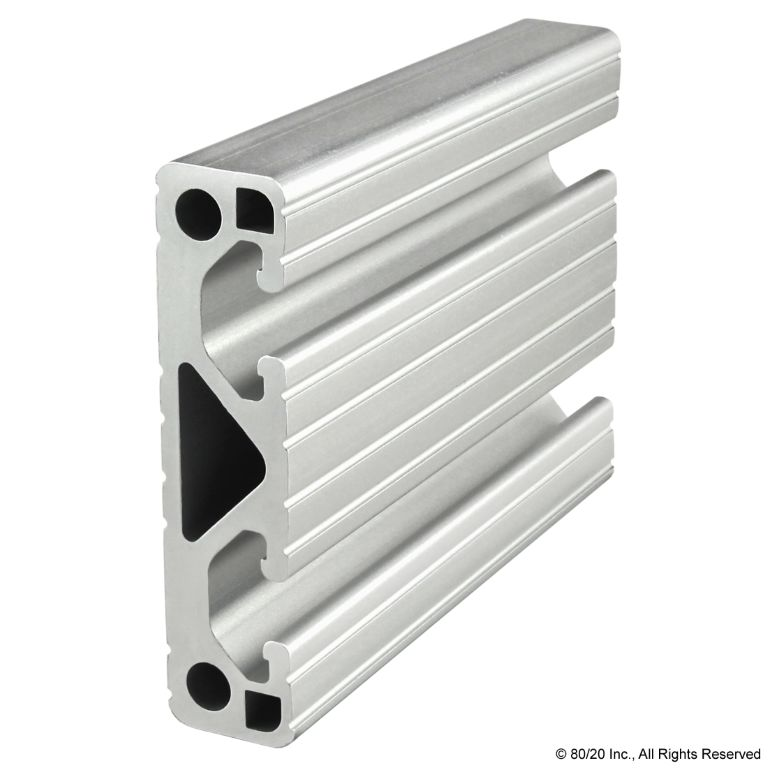 "3.00"" X .75"" Lite T-Slotted Profile - Two Adjacent Open T-Slots #3034-Lite"